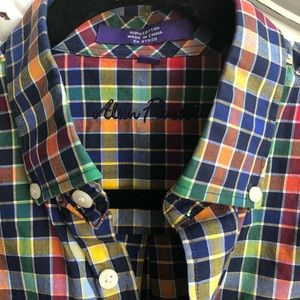 Alan Flusser Shirts - ALAN FLUSSER LONG SLEEVE BLUE CHECK SHIRT